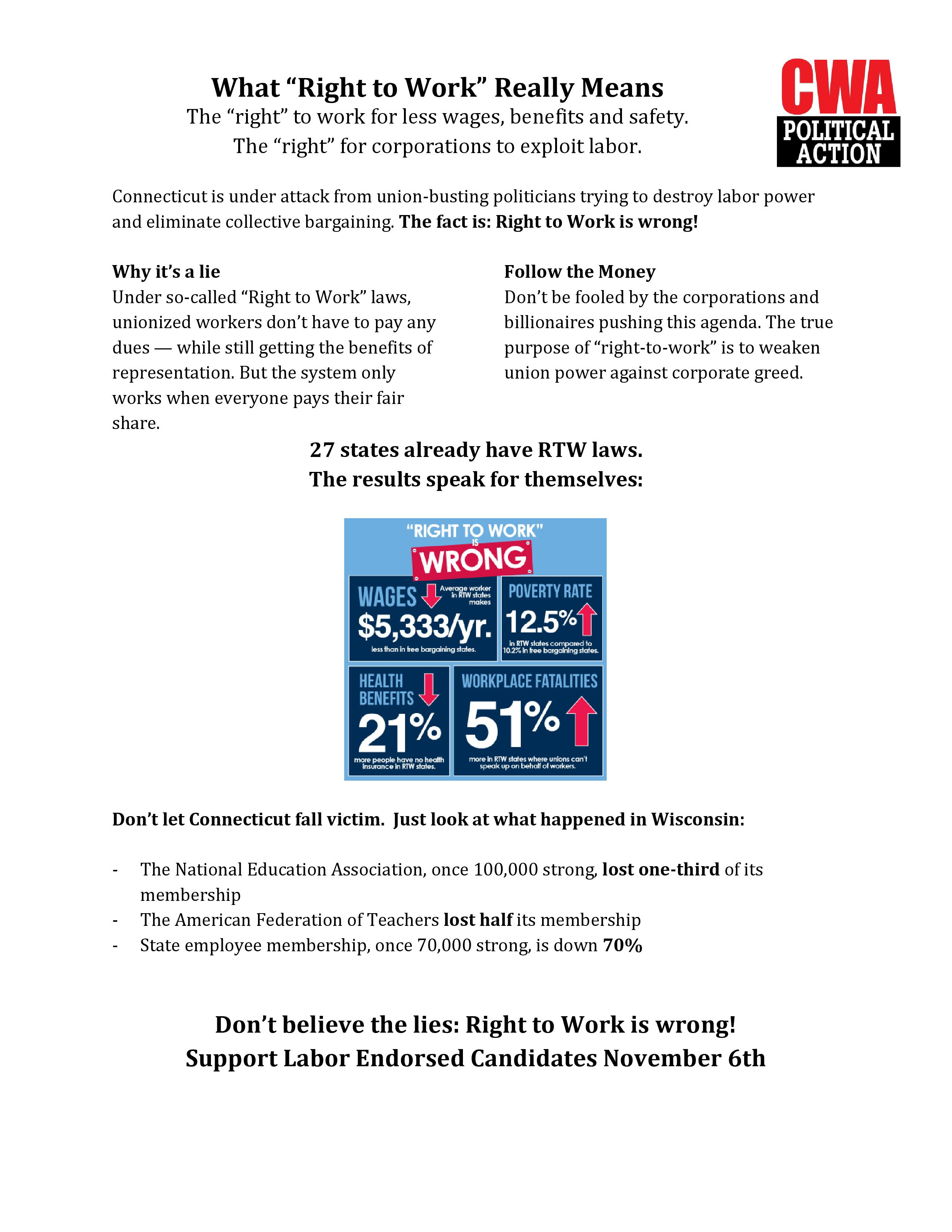 Right to work flyer